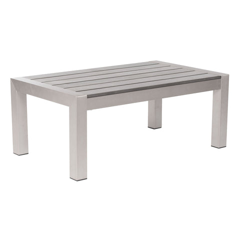 Cosmopolitan Coffee Table Brushed Aluminum