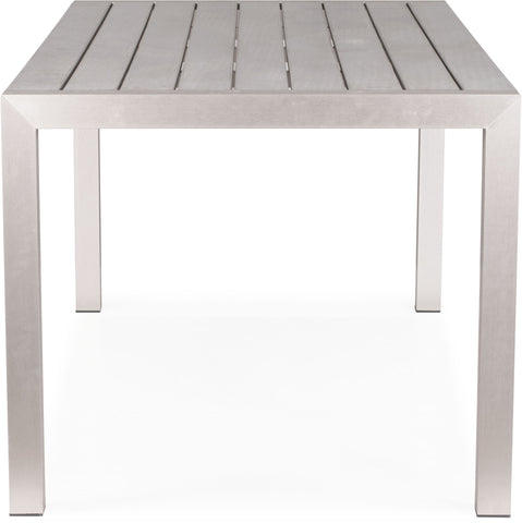Metropolitan Dining Table Brushed Aluminum