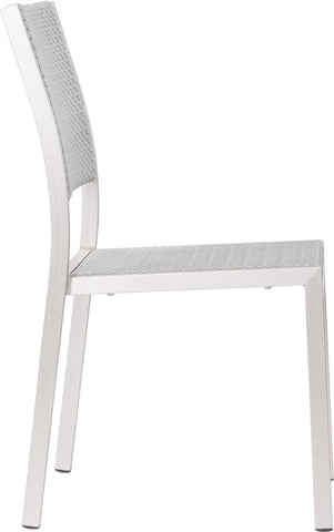 Metropolitan Dining Armless Chair Brushed Aluminum (Set of 2)