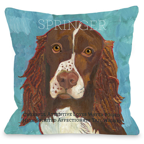 """Springer"" Indoor Throw Pillow by Ursula Dodge, 16""x16"""