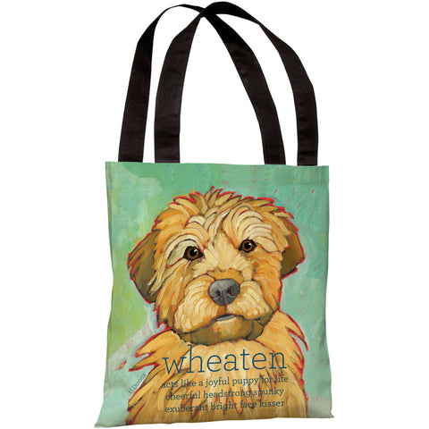 """Wheaten"" 18""x18"" Tote Bag by Ursula Dodge"