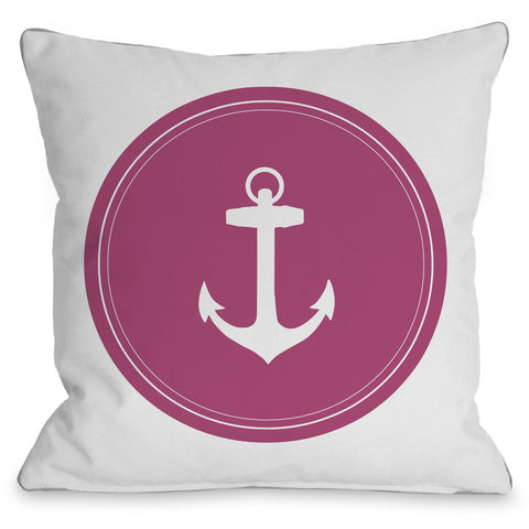 """Dot Anchor"" Indoor Throw Pillow by OneBellaCasa, 16""x16"""