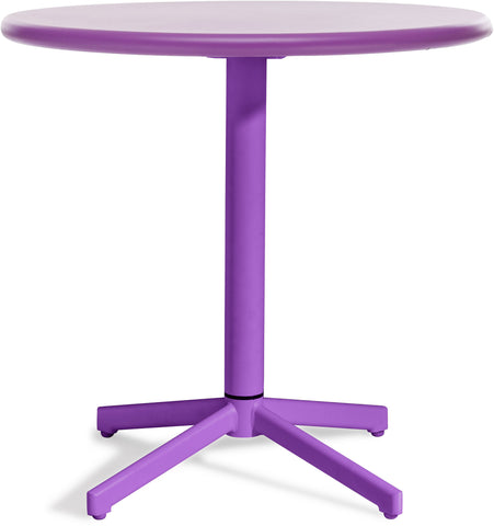 Big Wave Round Folding Table Purple
