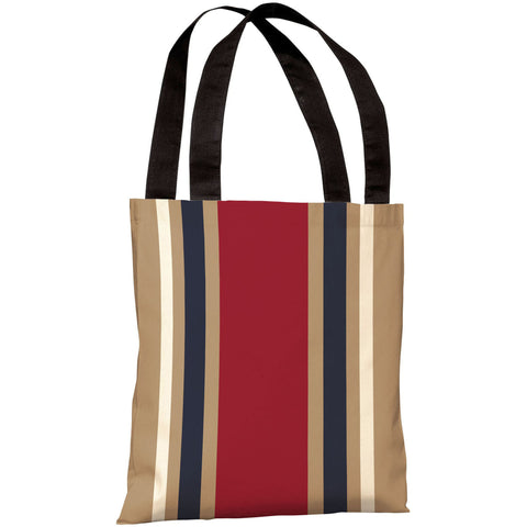 """Americus Stripe"" 18""x18"" Tote Bag by OneBellaCasa"
