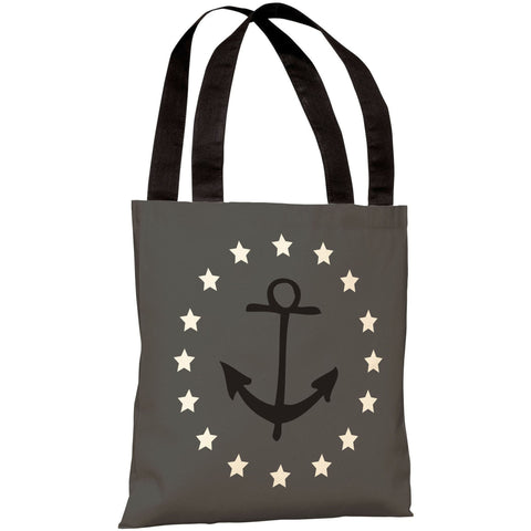 """Anchor Circle Stars"" 18""x18"" Tote Bag by OneBellaCasa"