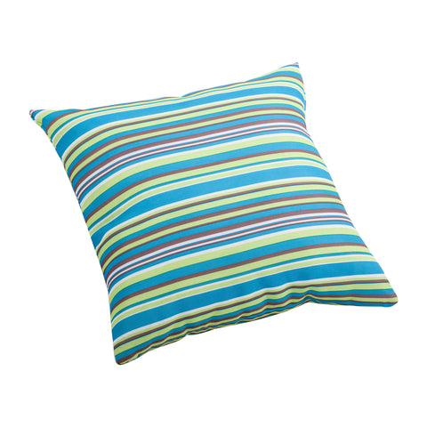 Puppy Small Outdoor Pillow Multicolor Stripe