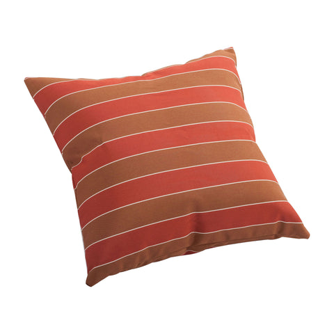 Joey Small Outdoor Pillow Brown & Clay Wide Stripe