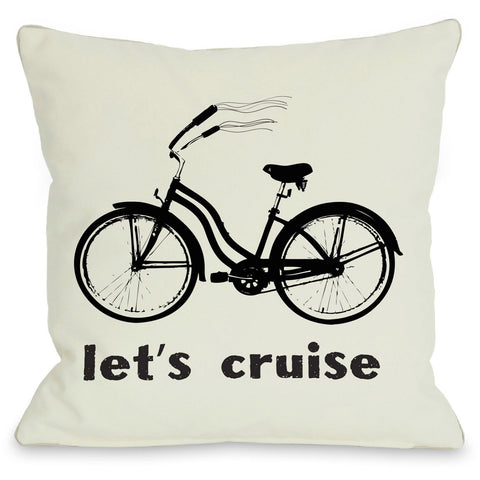 """Let's Cruise"" Indoor Throw Pillow by OneBellaCasa, 16""x16"""
