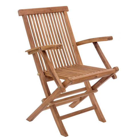 Regatta Outdoor Folding Arm Chair Natural (Set of 2)