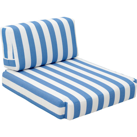 Bilander Outdoor Arm Chair Cushion Blue & White