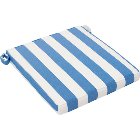 Nautical Outdoor Chair Seat Cushion Blue & White (Set of 2)