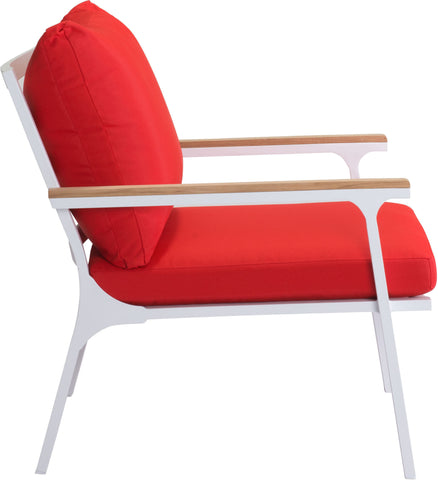 Maya Beach Outdoor Arm Chair Red, Natural & Wht (Set of 2)