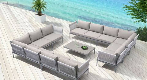 Sand Beach Outdoor Back Cushion, Light Gray