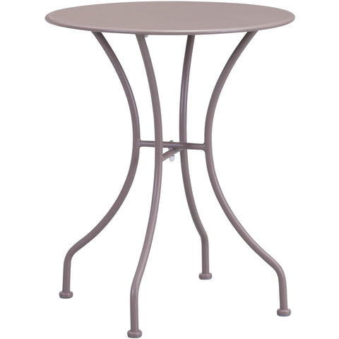 Oz Outdoor Dining Round Table Taupe