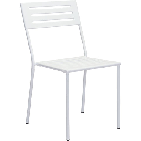Wald Outdoor Dining Chair White (Set of 2)