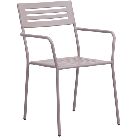 Wald Outdoor Dining Arm Chair Taupe (Set of 2)
