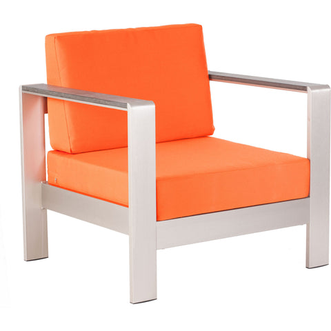 Cosmopolitan Outdoor Arm Chair Cushion Orange