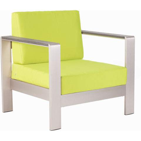 Cosmopolitan Outdoor Arm Chair Cushion Green