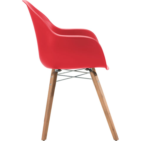 Tidal Outdoor Dining Chair, Red (Set of 4)