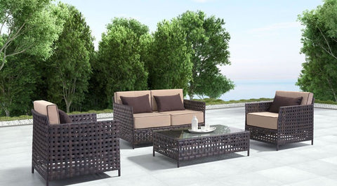 Pinery Outdoor Sofa, Brown & Beige