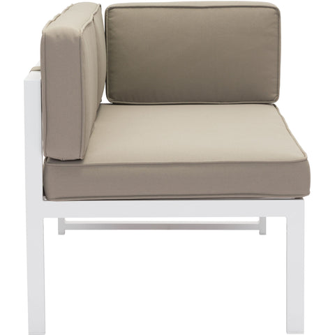 Golden Beach Outdoor Chaise RHF, White & Taupe