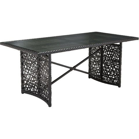 Santa Cruz Outdoor Table, Terra Brown