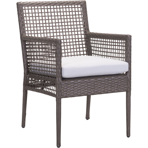 Coronado Outdoor Dining Chairs, Cocoa & Light Gray (Set of 2)