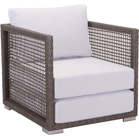 Coronado Outdoor Arm Chair, Cocoa & Light Gray