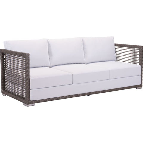 Coronado Outdoor Sofa, Cocoa & Light Gray