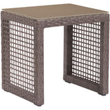 Coronado Outdoor End Table, Cocoa - etriggerz.com