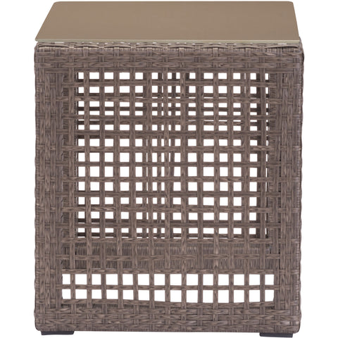 Coronado Outdoor End Table, Cocoa