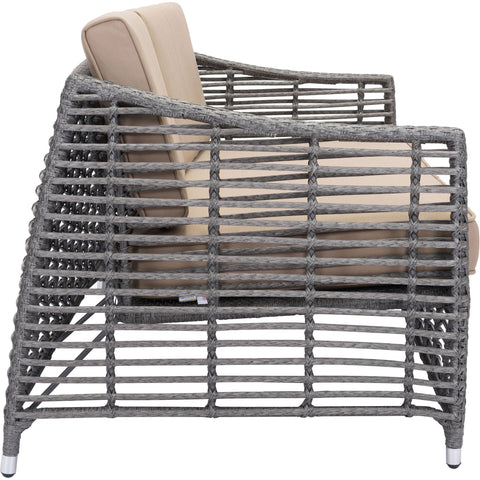 Trek Beach Outdoor Sofa, Gray & Beige
