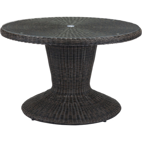 Noe Outdoor Dining Table, Brown