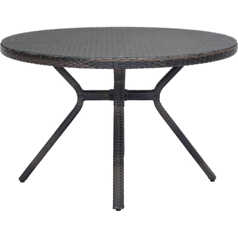 Mendocino Outdoor Dining Table, Brown