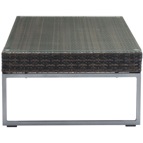 Malibu Outdoor Coffee Table, Brown & Silver