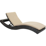 Pamelon Beach Outdoor Chaise Lounge, Brown & Beige - eTriggerz