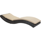 Pamelon Beach Outdoor Chaise Lounge, Brown & Beige