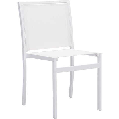 Mayakoba Outdoor Dining Chairs, White (Set of 2)