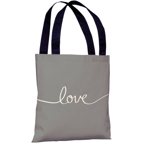 """Love"" 18""x18"" Tote Bag by OneBellaCasa"