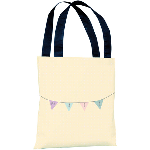 """#1 Mom Banner"" 18""x18"" Tote Bag by OneBellaCasa"