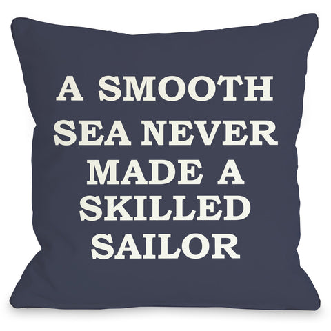 """A Smooth Sea"" Indoor Throw Pillow by OneBellaCasa, 16""x16"""