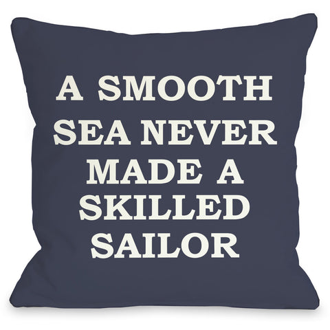 """A Smooth Sea"" Outdoor Throw Pillow by OneBellaCasa, 16""x16"""
