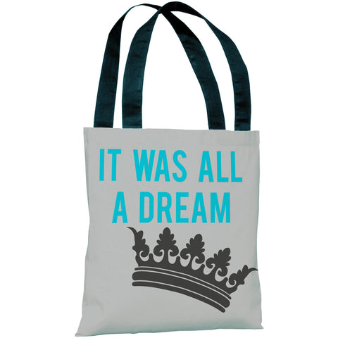 """It Was All A Dream"" 18""x18"" Tote Bag by OneBellaCasa"