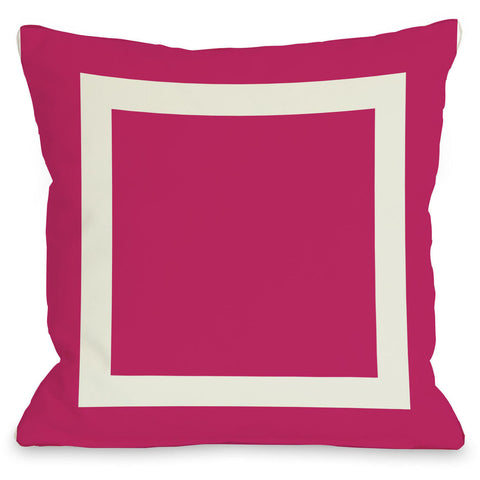 """Square"" Outdoor Throw Pillow by OneBellaCasa, Fuchsia, 16""x16"""