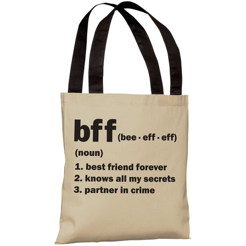 """BFF Definition"" 18""x18"" Tote Bag by OneBellaCasa"