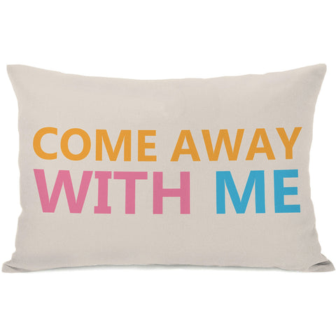 """Come Away With Me"" Outdoor Throw Pillow by OneBellaCasa, 14""x20"""