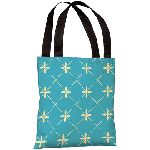 """Crisscross Flowers"" 18""x18"" Tote Bag by OneBellaCasa"