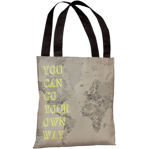 """You Can Go Your Own Way"" 18""x18"" Tote Bag by OneBellaCasa"