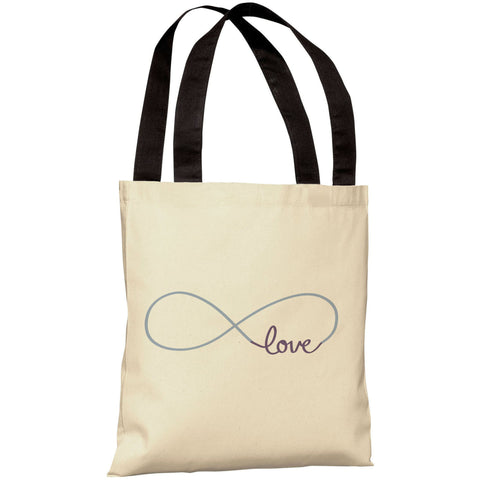 """Infinite Love"" 18""x18"" Tote Bag by OneBellaCasa"