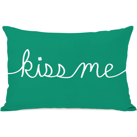 """Kiss Me"" Indoor Throw Pillow by OneBellaCasa, 14""x20"""